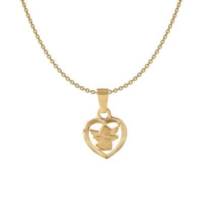 Acalee 50-1012 Kinder-Halskette mit Herzengel Gold 333 / 8K Kinderschmuck